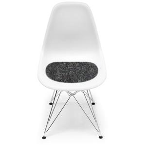 Hey-Sign - Sitzauflage Eames Plastic Sidechair - 08 graphit mit Antirutsch - indoor
