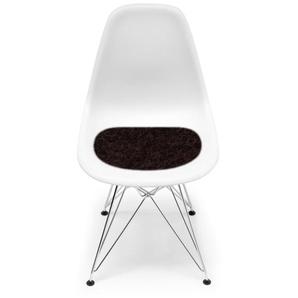 Hey-Sign - Sitzauflage Eames Plastic Sidechair - 27 schoko mit Antirutsch - indoor