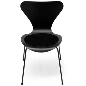 Hey-Sign - Sitzauflage Jacobsen Serie 7 - 02 schwarz mit Antirutsch - indoor