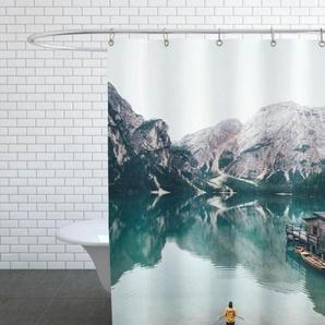 Hidden Lake by Ueli Frischknecht - Duschvorhang