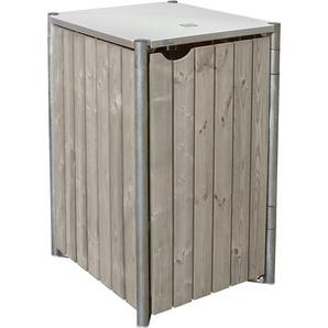 Hide Mülltonnenbox Kunststoff 64 cm x 61 cm x 116 cm Natur-Grau