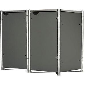 Hide Mülltonnenbox Kunststoff für 2 Tonnen 64 cm x 121 cm x 116 cm Grau