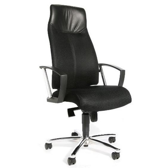 HIGH SIT UP - Profi Chefsessel Schwarz Stoff