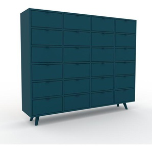 Highboard Marineblau - Elegantes Highboard: Schubladen in Marineblau - Hochwertige Materialien - 156 x 130 x 35 cm, Selbst designen