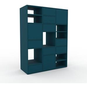 Highboard Blau - Highboard: Schubladen in Blau & Türen in Blau - Hochwertige Materialien - 118 x 157 x 47 cm, Selbst designen