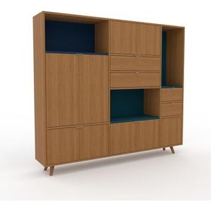 Highboard Eiche - Highboard: Schubladen in Eiche & Türen in Eiche - Hochwertige Materialien - 190 x 168 x 35 cm, Selbst designen