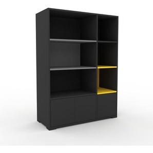 Highboard Anthrazit - Elegantes Highboard: Türen in Anthrazit - Hochwertige Materialien - 116 x 158 x 47 cm, Selbst designen