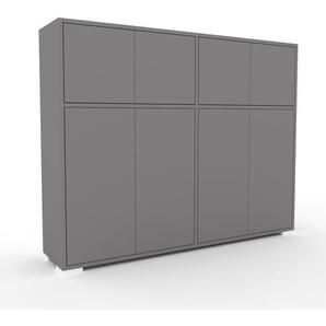 Highboard Grau - Elegantes Highboard: Türen in Grau - Hochwertige Materialien - 152 x 120 x 35 cm, Selbst designen