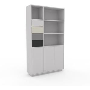 Highboard Lichtgrau - Highboard: Schubladen in Grau & Türen in Lichtgrau - Hochwertige Materialien - 116 x 200 x 35 cm, Selbst designen