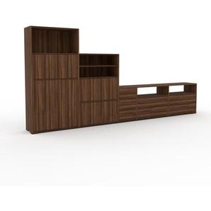 Highboard Nussbaum - Highboard: Schubladen in Nussbaum & Türen in Nussbaum - Hochwertige Materialien - 339 x 158 x 35 cm, Selbst designen