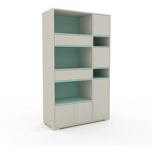 Highboard Sandgrau - Highboard: Schubladen in Sandgrau & Türen in Sandgrau - Hochwertige Materialien - 116 x 196 x 47 cm, Selbst designen