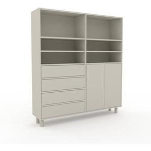 Highboard Nebelgrün - Highboard: Schubladen in Nebelgrün & Türen in Nebelgrün - Hochwertige Materialien - 152 x 168 x 35 cm, Selbst designen