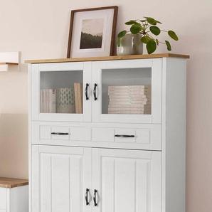 Home affaire Highboard , weiß, Landhaus-Stil, »Trinidad«, , , FSC®-zertifiziert