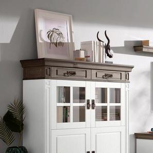 Home affaire Highboard »Vinales«, weiß, Landhaus-Stil, , , FSC®-zertifiziert