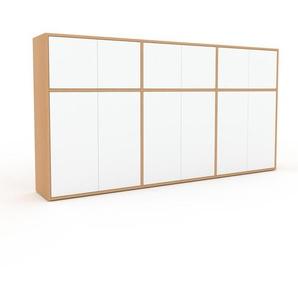 Highboard Buche - Elegantes Highboard: Türen in Weiß - Hochwertige Materialien - 226 x 118 x 35 cm, Selbst designen