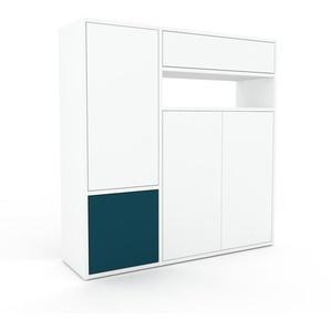 Highboard Weiß - Highboard: Schubladen in Weiß & Türen in Weiß - Hochwertige Materialien - 116 x 118 x 35 cm, Selbst designen