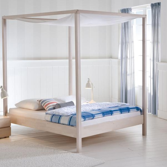 Himmelbett Lorca, Buche weiß, 140x200 cm
