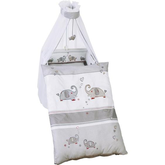 Himmelbettgarnitur Jumbo twins grau, roba, passend für Kinderbetten Einheitsgröße bunt Himmelbetten Zubehör Betten Himmelbettgarnituren