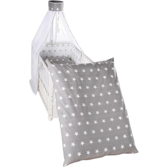 Himmelbettgarnitur Little Stars, wendbar, roba, passend für Kinderbetten Einheitsgröße grau Himmelbetten Zubehör Betten Himmelbettgarnituren