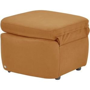 himolla Hocker mit Sesselfunktion gelb - Stoff 7376 ¦ gelb ¦ Maße (cm): B: 71 H: 51 T: 69
