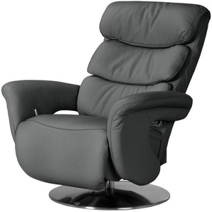himolla Leder-Relaxsessel grau - Leder 7228 ¦ grau ¦ Maße (cm): B: 83 H: 107 T: 88