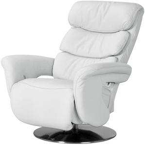 Leder-Relaxsessel weiß - Leder Viktoria ¦ weiß ¦ Maße (cm): B: 83 H: 109 T: 90 Polstermöbel  Sessel  Fernsehsessel » Höffner