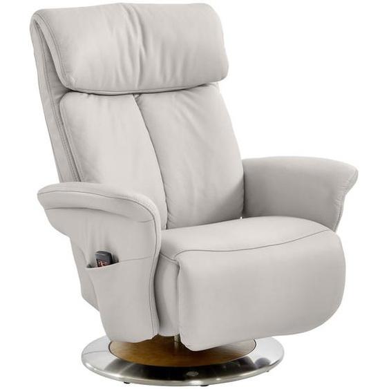 Himolla Relaxsessel Echtleder Relaxfunktion, Kopfteilverstellung, Fußteilverstellung , Grau , Leder , Wildeiche , 86x109x90 cm