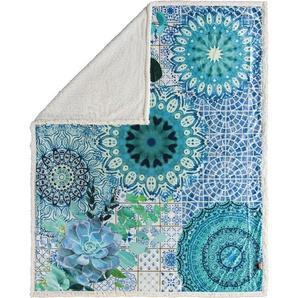 Hip Wohndecke »Sinsin«, 130x160 cm, blau