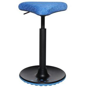 HJH SITNESS HIGH 10 - Arbeitsstuhl Arbeitshocker Blau