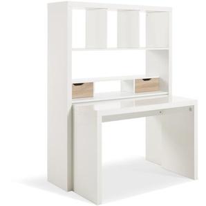 HMW Schreibtisch, Weiß, Kunststoff