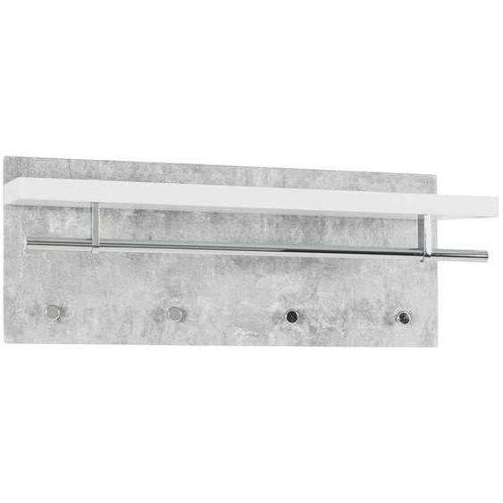 H�ngegarderobe in Beton Grau und Wei� 75 cm breit