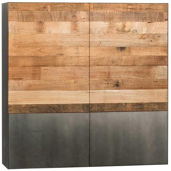 Hängeschrank aus Teak Recyclingholz Loft Style