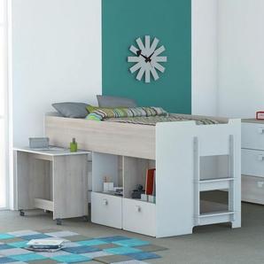 Hochbett Boles mit Tisch, 90 x 190 cm