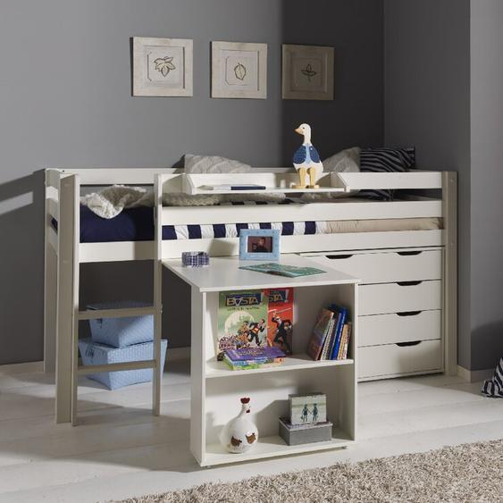 Hochbett Ethridge mit Möbel-Set, 90 x 200 cm