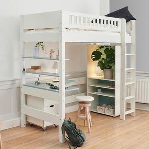 Hochbett Kids Town Design, weiß, 90x200 cm