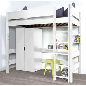 hochbetten etagenbetten in weiss preisvergleich moebel 24. Black Bedroom Furniture Sets. Home Design Ideas