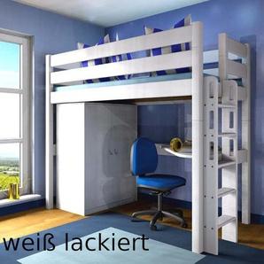 Hochbett Stockholm 2-L2, H190 cm,Dahlhaus Kiefer weiß