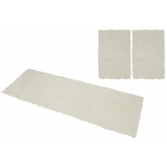 KiNZLER Hochflor-Bettumrandung Pireo, synthetischer Flokati B/L (Brücke): 70 cm x 110 (2 St.) (Läufer): 330 (1 St.), U-förmig beige Bettumrandungen Läufer Teppiche
