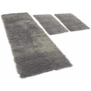 Hochflor-Bettumrandung »Pireo« KiNZLER, Höhe 70 mm, (3-tlg), synthetischer Flokati
