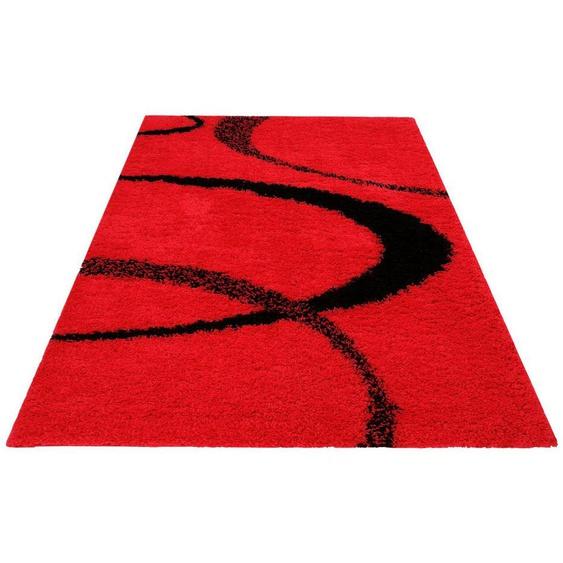 Hochflor-Teppich »Ankara«, my home, rechteckig, Höhe 52 mm, weicher Flor, Wohnzimmer