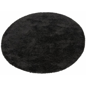 Hochflor-Teppich »Denver«, merinos, rund, Höhe 50 mm