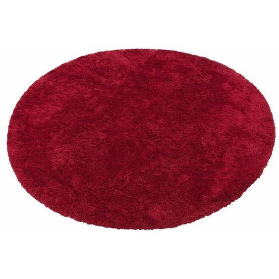 Hochflor-Teppich »Desner«, my home, rund, Höhe 38 mm, Besonders weich durch Microfaser, Wohnzimmer