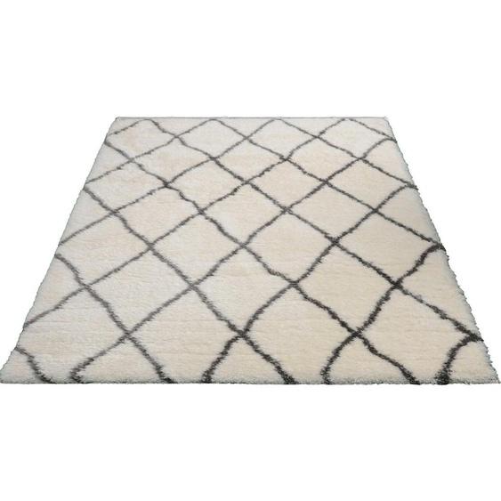 Hochflor-Teppich »Floki 80075«, merinos, rechteckig, Höhe 70 mm, Besonders weich durch Microfaser, Wohnzimmer