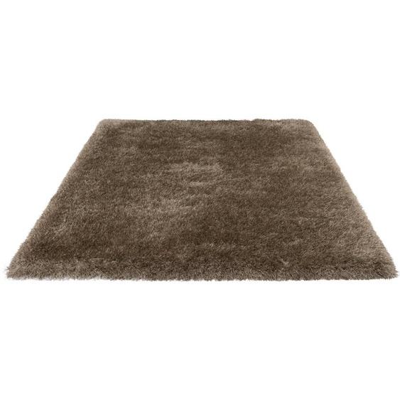Hochflor-Teppich »Glossy 411«, merinos, rechteckig, Höhe 70 mm, Besonders weich durch Microfaser, Wohnzimmer