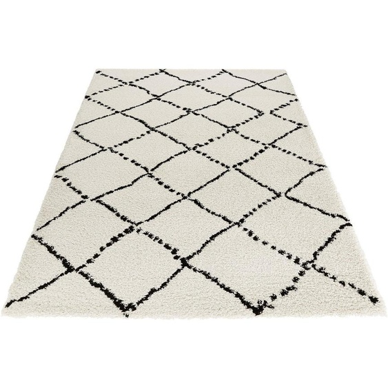 Hochflor-Teppich »Hash«, MINT RUGS, rechteckig, Höhe 35 mm, Scandi Look, Wohnzimmer