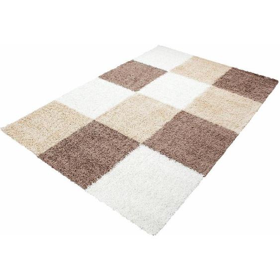 Hochflor-Teppich, Life Shaggy 1501, Ayyildiz, rechteckig, Höhe 30 mm, maschinell gewebt 2, 80x150 cm, mm braun Kinder Bunte Kinderteppiche Teppiche