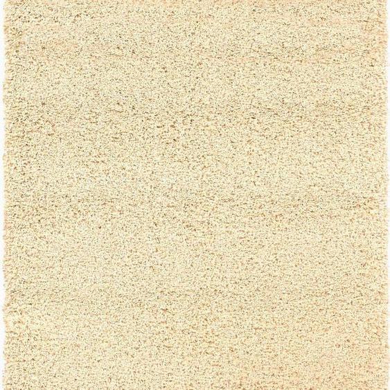 Hochflor-Teppich, Lobby Shaggy, OCI DIE TEPPICHMARKE, rechteckig, Höhe 52 mm, maschinell gewebt 5, 200x200 cm, mm beige Moderne Teppiche Unisex