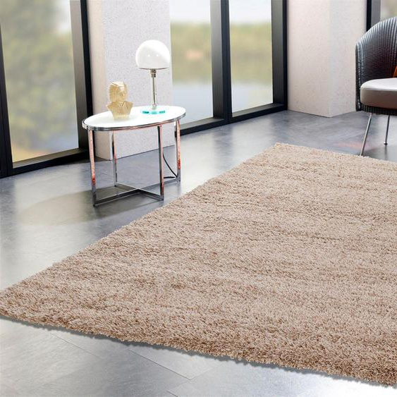 Hochflor-Teppich, Lobby Shaggy, OCI DIE TEPPICHMARKE, rechteckig, Höhe 52 mm, maschinell gewebt 6, 200x290 cm, mm beige Moderne Teppiche Unisex