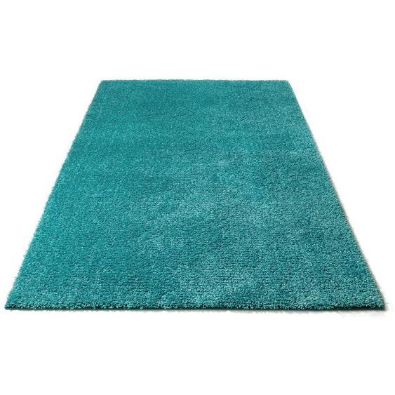 Hochflor-Teppich, Lonela, andas, rechteckig, Höhe 30 mm, maschinell gewebt 8, 280x380 cm, mm blau Teppiche nach Maß