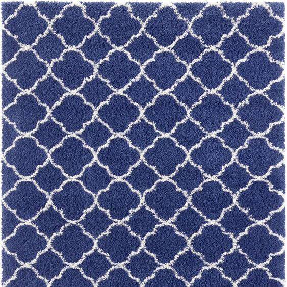 MINT RUGS Hochflor-Teppich Luna, rechteckig, 35 mm Höhe, modernes Allover Design, Wohnzimmer 6, 200x290 cm, blau Kinder Bunte Kinderteppiche Teppiche